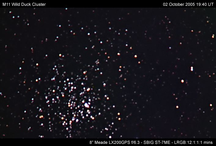M11 Wild Duck Cluster October 2005 - Solar Worlds