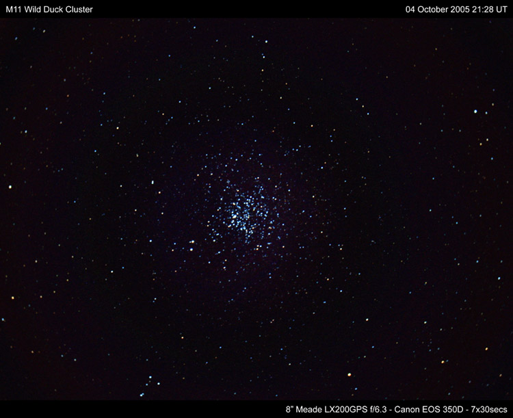 M11 Wild Duck Cluster - October 2005 - Solar Worlds